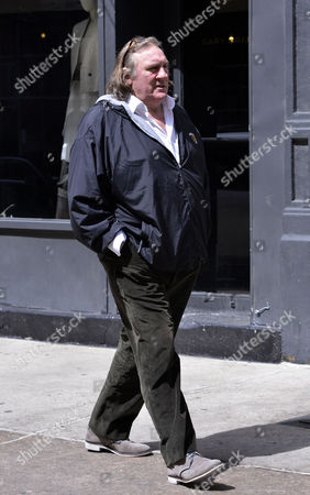 Editorial picture of Gerard Depardieu and Roxanne Depardieu out and about, New York, America - 13 Apr 2013