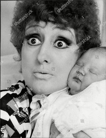 Stock Image of Anna Quayle Actress With Her Baby.