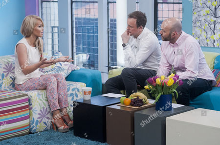 Stock Photo of Katie Piper with Tim Lovejoy and Simon Rimmer