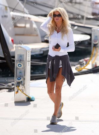 Editorial image of Victoria Silvstedtt and boyfriend Maurice Dabbah out and about in Monte Carlo, Monaco - 13 Apr 2013