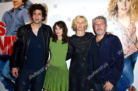 Max Boublil, Melanie Bernier, Sandrine Kiberlain and Alain Chabat