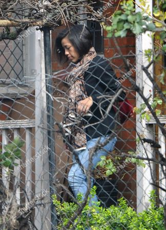 London. George Galloway's New Wife Putri Gayatri Pertiwi Leaving Their Home In Streatham This Morning.
