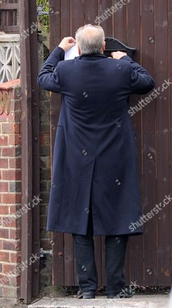 London. George Galloway Collects His Post This Morning Before Leaving His Home With His New Wife Putri Gayatri Pertiwi.
