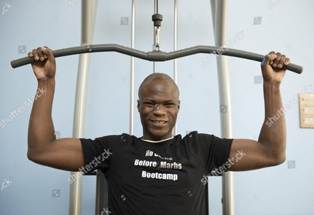 Big Brother Winner Brian Belo Pulls Some Big Weights At The 'no Carbs Before Marbs' Fitness Bootcamp At The Crowne Plaza Spa In Colchester.