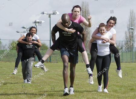 Bb Winner Brian Belo On The Piggy Back Races At The 'no Carbs Before Marbs' Fitness Bootcamp At The Crowne Plaza Spa In Colchester.