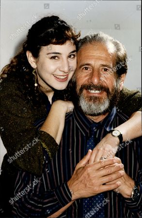 Stock Photo of Actor Topol With His Daughter Actress Adi Topol-margalith Chaim Topol (born September 9 1935) Often Billed Simply As Topol Is An Israeli Theatrical And Film Performer Actor Writer And Producer. He Has Been Nominated For An Oscar And Tony Award And Has Won Two Golden Globes.