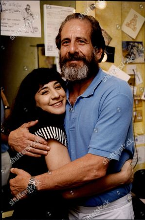 Stock Picture of Actor Topol With His Daughter Actress Adi Topol-margalith Chaim Topol (born September 9 1935) Often Billed Simply As Topol Is An Israeli Theatrical And Film Performer Actor Writer And Producer. He Has Been Nominated For An Oscar And Tony Award And Has Won Two Golden Globes.