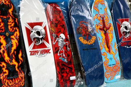 Tommy Guerrero, Tony Hawk, Rodeny Mullen and Steve Caballero Bones Brigade Decks