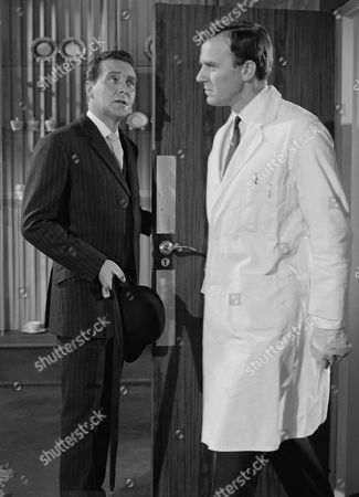 Stock Picture of Patrick Macnee and Jeremy Burnham