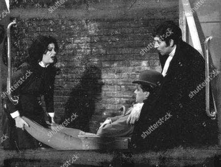 Stock Picture of Isa Miranda, Patrick Macnee and Peter Wyngarde