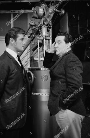 Stock Photo of Sir Roger Moore and Brian Mosley