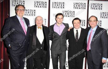 Playwright Douglas Carter Beane, Director Jack O'Brien, Jonny Orsini, Nathan Lane, Lewis J Stadlen