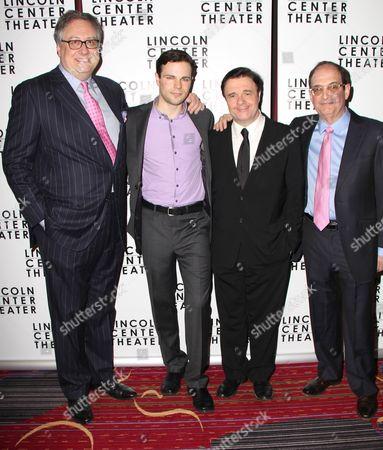 Playwright Douglas Carter Beane, Jonny Orsini, Nathan Lane, Lewis J Stadlen