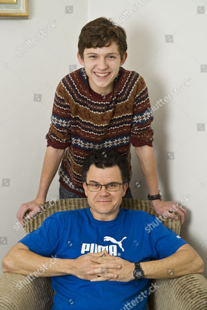 Tom Holland with his father Dominic Holland