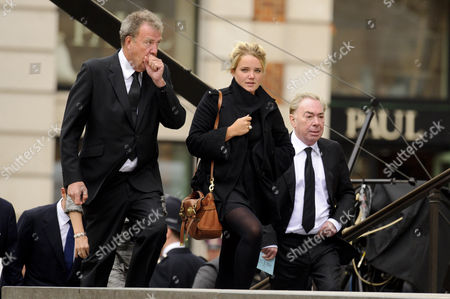 Stock Image of Jeremy Clarkson, daughter Emily and Sir Andrew Lloyd Webber