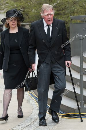 Stock Picture of Sir Bernard Ingham, St Paul's Cathedral