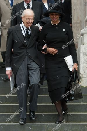 Norman Tebbit and guest, St Paul's Cathedral
