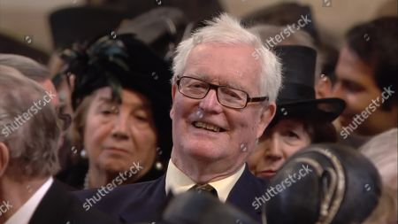 Sir Douglas Hurd at the service in St Paul's Cathedral