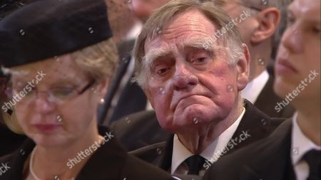 Sir Bernard Ingham attends the service at St Paul's Cathedral