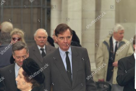The Funeral Of Enoch Powell At Saint Margaret's Church Westminster. Jonathan Aitken Pictured Outside The Church.