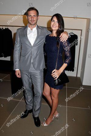 Stock Photo of Josh Lucas and wife Jessica Henriquez