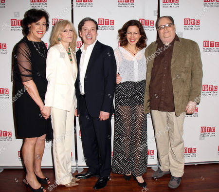 Director Lynne Meadow, Judith Light, Jeremy Shamos, Jessica Hecht, Playwright Richard Greenberg
