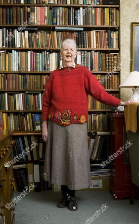 Writer Shirley Hughes at home in London