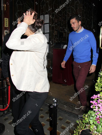 Editorial picture of Melanie Sykes and boyfriend Jack Cockings at the 'Beautiful Thing' play press night after party, London, Britain - 17 Apr 2013