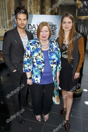 Tom Riley (DaVinci), Edwina Hart, MBE, Minister for Economy, Science and Transport, and Hera Hilmar (Vanessa)