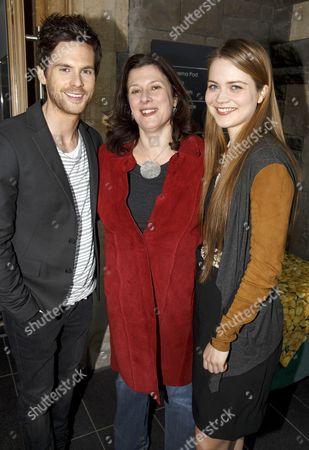 Stock Image of Tom Riley (DaVinci), Julie Gardener (producer) and Hera Hilmar (Vanessa)