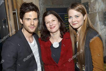Stock Photo of Tom Riley (DaVinci), Julie Gardener (producer) and Hera Hilmar (Vanessa)