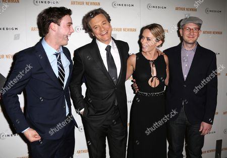 Stock Image of Sterling Beaumon, Colin Firth, Emily Blunt and Dante Ariola