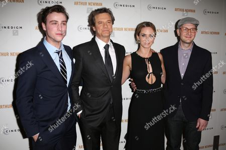 Sterling Beaumon, Colin Firth, Emily Blunt and Dante Ariola