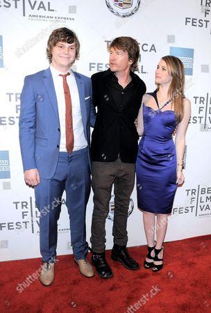 Evan Peters, Scott Coffey and Emma Roberts