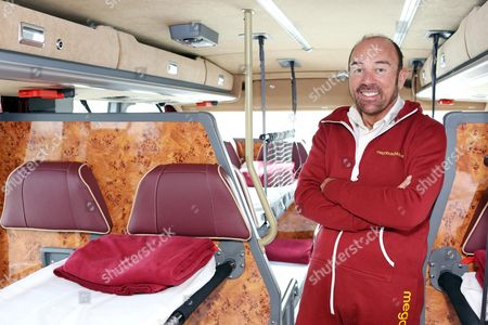 Stagecoach Group Chief Executive Sir Brian Souter on board one of the 'sleepercoach' coaches