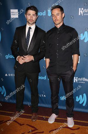 Stock Picture of Matt Dallas and Blue Hamilton