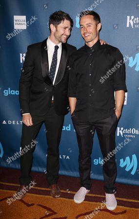Matt Dallas and Blue Hamilton