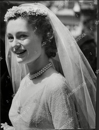 Lady Marye Pepys Daughter Of The Earl Of Cottenham At Her Wedding To Hon. Luke White Luke Robert White 5th Baron Annaly (15 March 1927 Oo 30 September 1990) Was An English Cricketer. Him And Wife Lady Marye Isabel Pepys. Divorced In 1956.