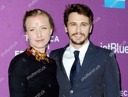 Christina Voros and James Franco