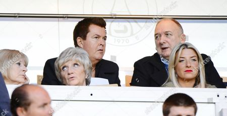 (Top row) Simon Fuller and Ted Beckham, (front row) Jackie Adams, Sandra Beckham and Joanne Beckham