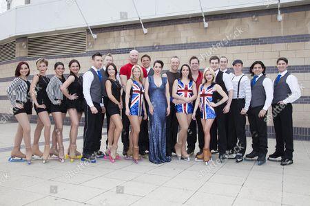 Dancing on Ice cast - Ruth Lornezo, Beth Tweedle, Brianne Delcourt, Matt Lapinskas, Colin Ratushniak, Gareth Thomas, Dan Whiston, Kyran Bracken