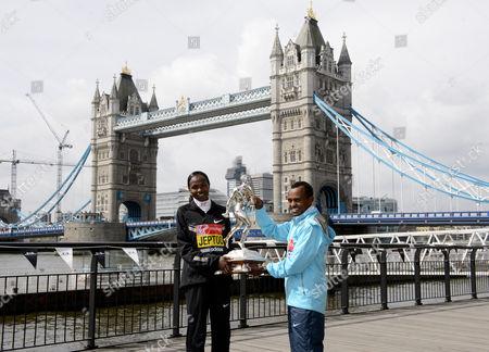 Priscah Jeptoo and Tsegaye Kebede
