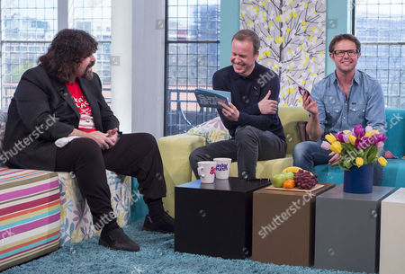 Mick Foley with Tim Lovejoy and Stefan Gates.