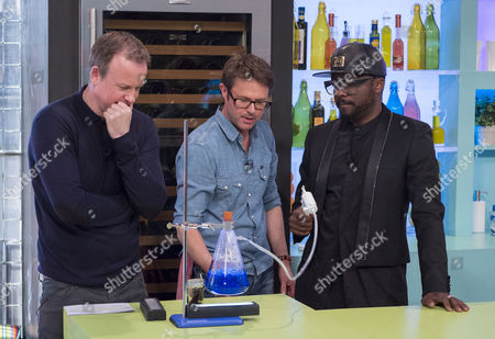 Tim Lovejoy and Stefan Gates with Will.i.am