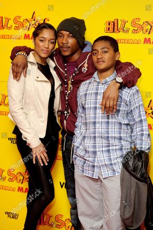 Natalie Williams, Ashley Walters and guest