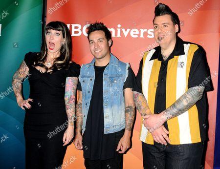 Hannah Aitchison, Pete Wentz and Joe Capobianco