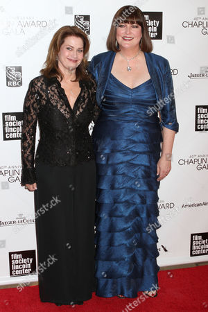 Stock Image of Ann Hampton Callaway (right) and partner Kari Strand (left)