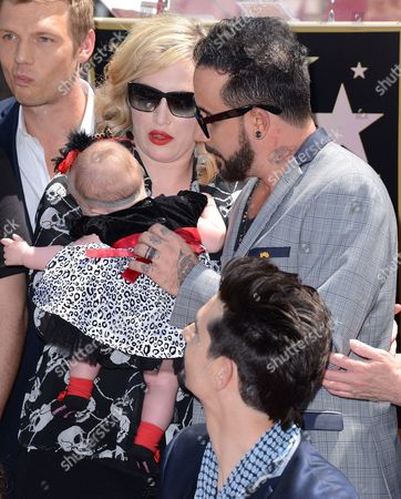 A.J. McLean and Rochelle DeAnna Karidis with daughter Ava Jaymes
