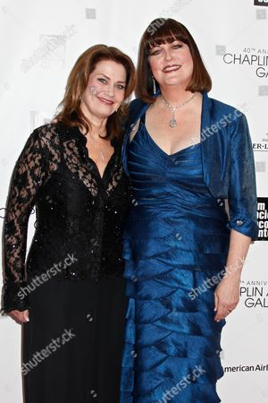 Stock Photo of Ann Hampton Callaway (right) and partner Kari Strand (left)