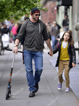 Hugh Jackman picks up daughter Ava Eliot Jackman from school